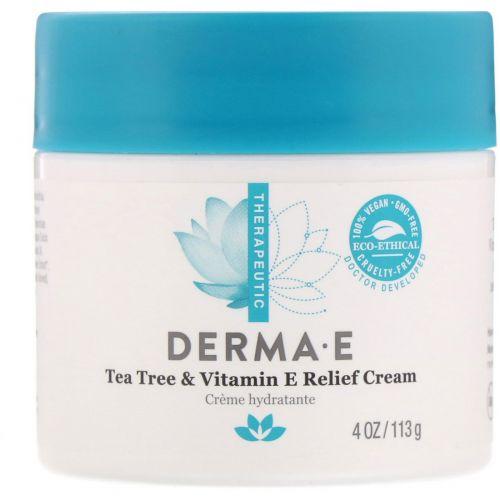 Derma E, Tea Tree and E Antiseptic Creme, 4 oz (113 g)