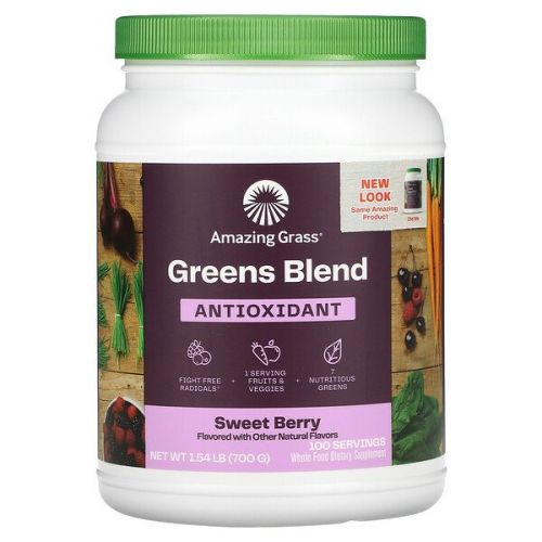 Amazing Grass, Зеленые суперфуды, антиоксидант, Сладкая ягода, 24,7 унц.(700 г)