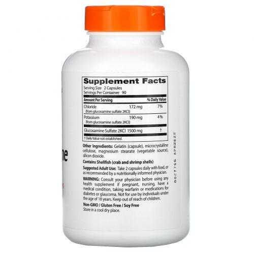 Doctor's Best, Лучший глюкозамин сульфат, 750 мг, 180 капсул