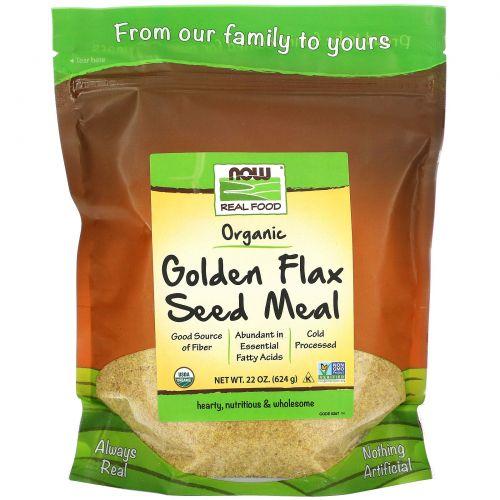 Now Foods, Органика, Золотые семена льна, 22 унции (624 г)