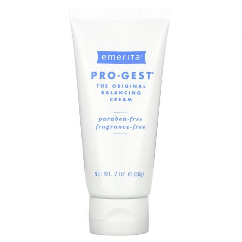 Emerita, Pro-Gest, крем с прогестероном, без запаха, 2 унции (56 г)