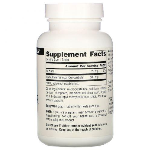 Source Naturals, Яблочный уксус, 500 мг, 180 таблеток
