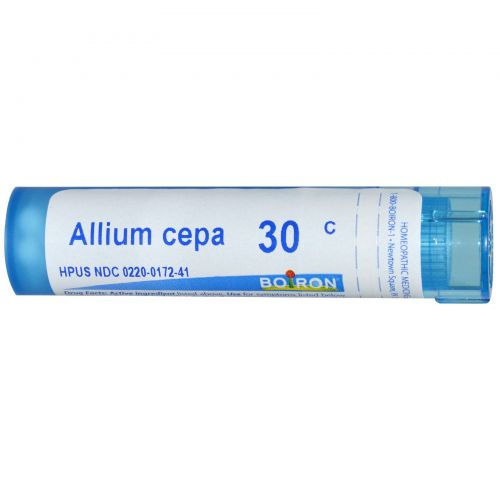 Boiron, Single Remedies, Лук репчатый (Allium cepa), 30C, примерно 80 драже