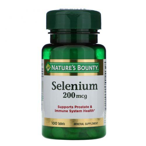 Nature's Bounty, Селен, 200 мкг, 100 таблеток