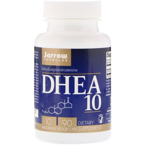 Jarrow Formulas, DHEA 10, Dehydroepiandrosterone, 10 mg, 90 Veggie Caps