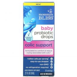 Mommy's Bliss, Baby, Probiotic Drops, Colic Support, Age Newborn +, 0.27 fl oz (8 ml)