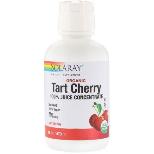 Solaray, Органический вишневый сок, 16 унции(473 мл)