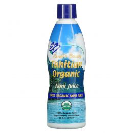 Earth's Bounty, Натуральный таитянский сок нони (Tahitian Organic Noni Juice), 32 жидких унций (946 мл)