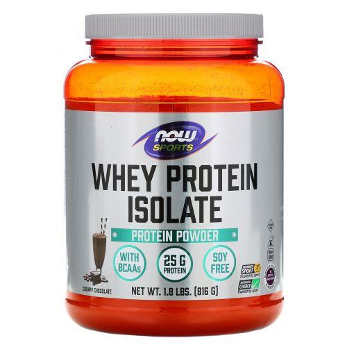Now Foods, Изолят сывороточного протеина, голландский шоколад, 1,8 фунта (816 г)