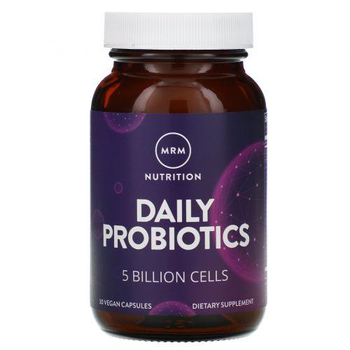 MRM, Дневной пробиотик, 30 веганских капсул