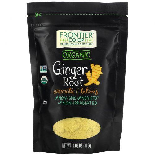 Frontier Natural Products, корень органического имбиря, 116г (4,09унции)