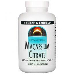 Source Naturals, Магния цитрат, 133 мг, 180 капсул