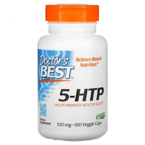 Doctor's Best, 5-HTP, 100 мг, 180 вегетарианских капсул
