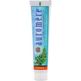 Auromere, Аюрведическая травяная зубная паста, солодка, 4.16 унций (75 мл/117 г)