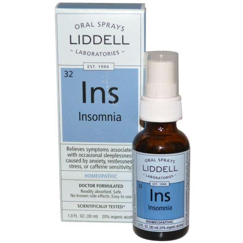 Liddell, Ins, средство от бессонницы, оральный спрей, 1 жидкая унция (30 мл)