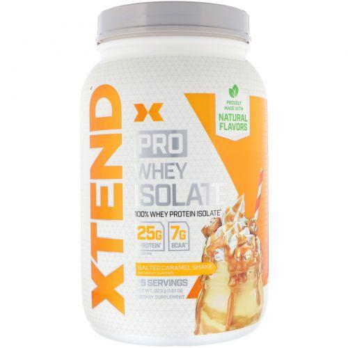 Scivation, Xtend Pro, сывороточный изолят, соленая карамель, 1,81 фунта (823 г)