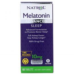 Natrol, Мелатонин для спокойного сна, максимальное действие, 10 мг, 60 таблеток