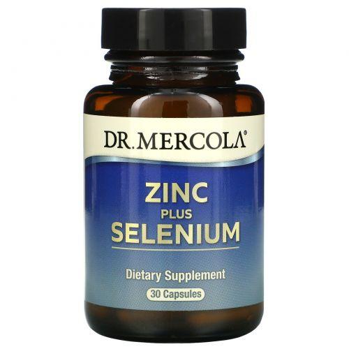 Dr. Mercola, Цинк плюс селен, 30 капсул