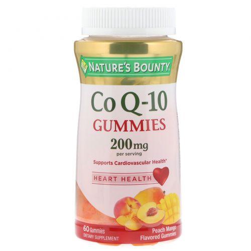 Nature's Bounty, Co Q10 Gummies, Peach Mango Flavor, 200 mg, 60 Gummies
