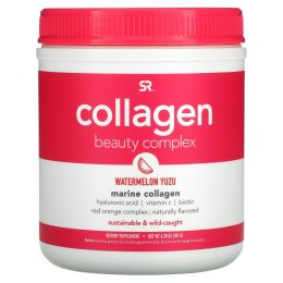 Sports Research, Collagen Beauty Complex, Marine Collagen, Watermelon Yuzu, 6.38 oz (181 g)