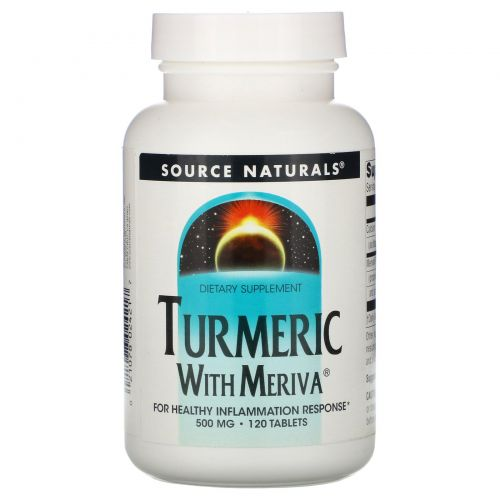Source Naturals, Комплекс с куркумой Meriva, 500 мг, 120 таблеток