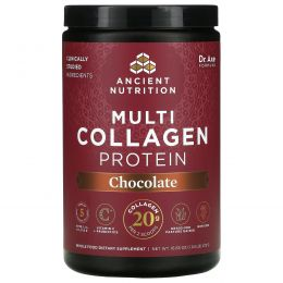 Dr. Axe / Ancient Nutrition, Multi Collagen Protein, Chocolate, 18.5 oz (525 g)