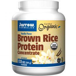Jarrow Formulas, Концентрат органического белка коричневого риса, порошок с ароматом ванили, 17,8 унций (504 г)