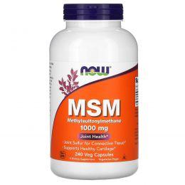 Now Foods, Метилсульфонилметан, 1000 мг, 240 капсул