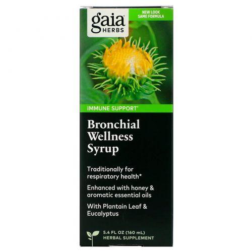 Gaia Herbs, Быстрое облегчение, травяной сироп для здоровья бронхов, 5.4 жидких унций (160 мл)