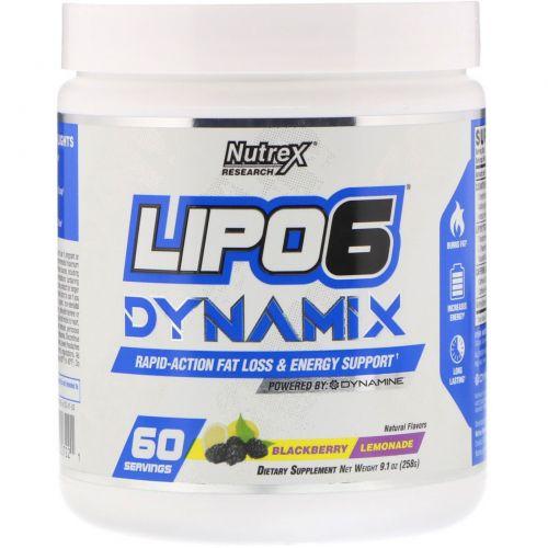 Nutrex Research, Lipo 6 Dynamix, Ежевичный лимонад, 9,1 унц. (258 г)