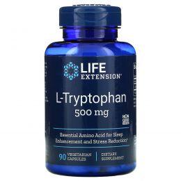 Life Extension, L-Tryptophan, 500 мг, 90 растительных капсул