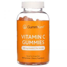 GummYum!, Vitamin C Gummies, Natural Tart Orange Flavor, 250 mg, 180 Gummies