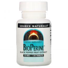 Source Naturals, пиперин, 10 мг, 120 таблеток