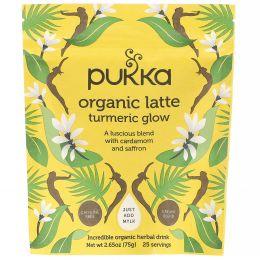Pukka Herbs, Органическое латте с куркумой, без кофеина, 75г (2,65унции)