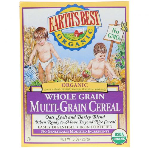 Earth's Best, Earth's Best, Органические мультизерновые хлебные злаки, 8 унций (227 г)