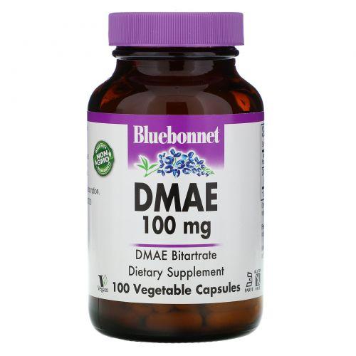 Bluebonnet Nutrition, ДМАЕ (диметиламиноэтанол) 100 овощных капсул
