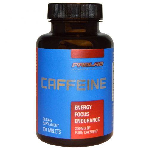 ProLab, Кофеин, 200 мг, 100 таблеток