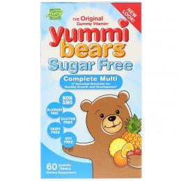 Hero Nutritional Products, Yummi Bears, мультивитамины и минералы, без сахара, со вкусами фруктов, 60 жевательных медвежат