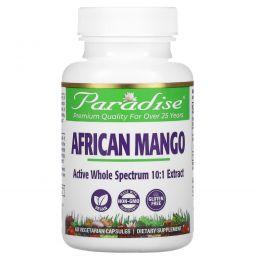 Paradise Herbs, Африканское Манго, 60 капсул