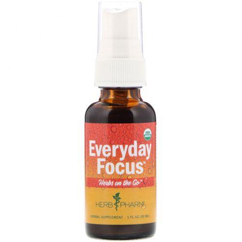 Herb Pharm, Herbs on the Go, Everyday Focus, 1 ж. унц. (30 мл)