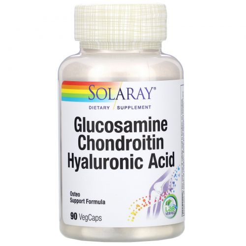 Solaray, Glucosamine Chondroitin Hyaluronic Acid, 90 VegCaps