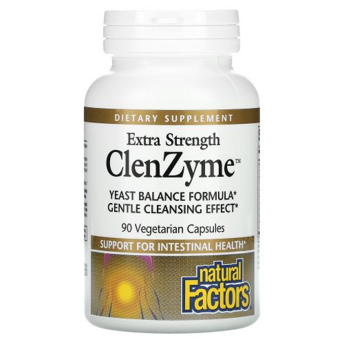 Natural Factors, Extra Strength ClenZyme, 90 Vegetarian Capsules