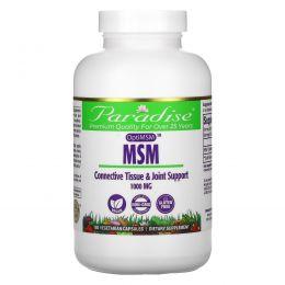 Paradise Herbs, МСМ, 1000 мг, 180 растительных капсул