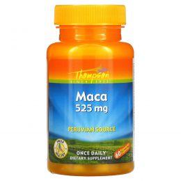 Thompson, Мака, 525 мг, 60 капсул