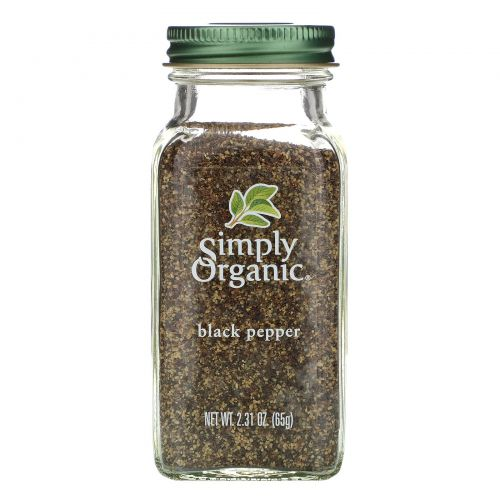 Simply Organic, Чёрный перец, 2.31 унций (65 г)