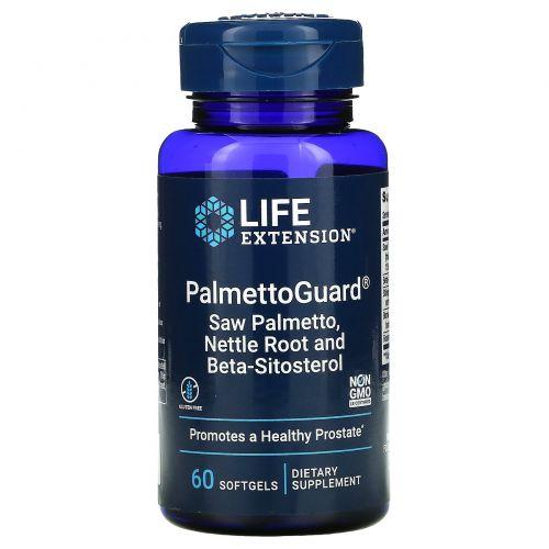 Life Extension, PalmettoGuard, пальма сереноа/корень крапивы с бета-ситостеролом, 60 желатиновых капсул