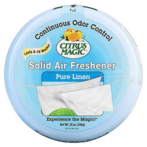 Citrus Magic, Твердый освежитель воздуха, чистый лен 20 унции (566 г)