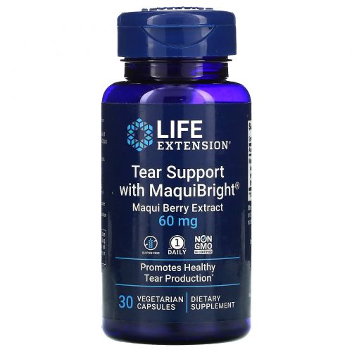 Life Extension, Tear Support, with MaquiBright, Maqui Berry Extract, 30 Veggie Caps