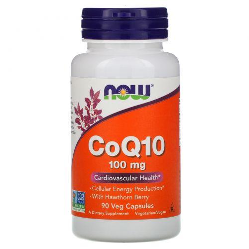 Now Foods, Коэнзим Q10, 100 мг, 90 растительных капсул