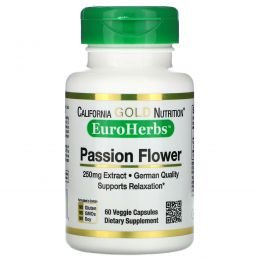 California Gold Nutrition, EuroHerbs, Passion Flower, 250 mg , 60 Veggie Capsules